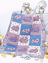 Cuddly Bunny Flannel Baby Quilt