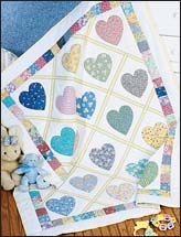 Love & Kisses Baby Quilt
